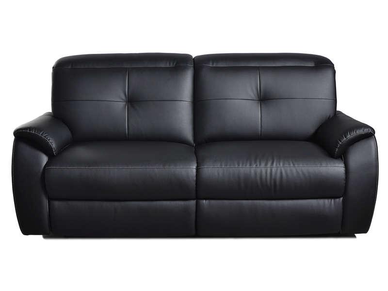 Canapé fixe relaxation manuel 2 5 places ROSS en PU