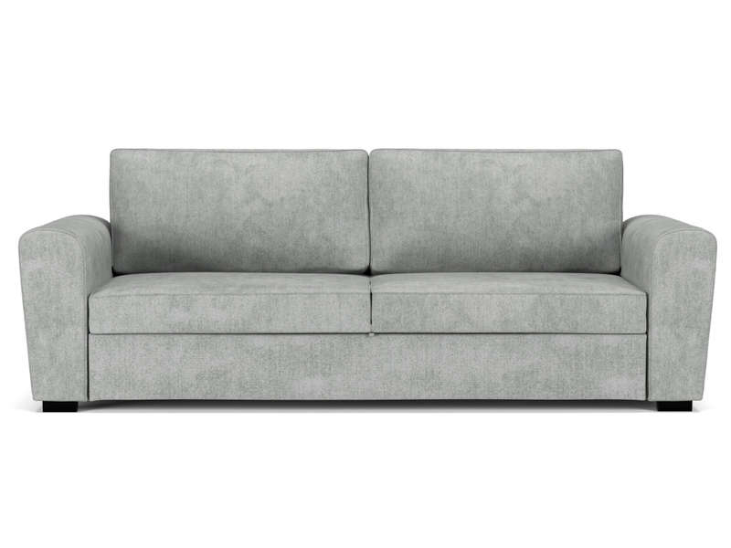Canapé convertible 3 places en tissu FARO coloris gris