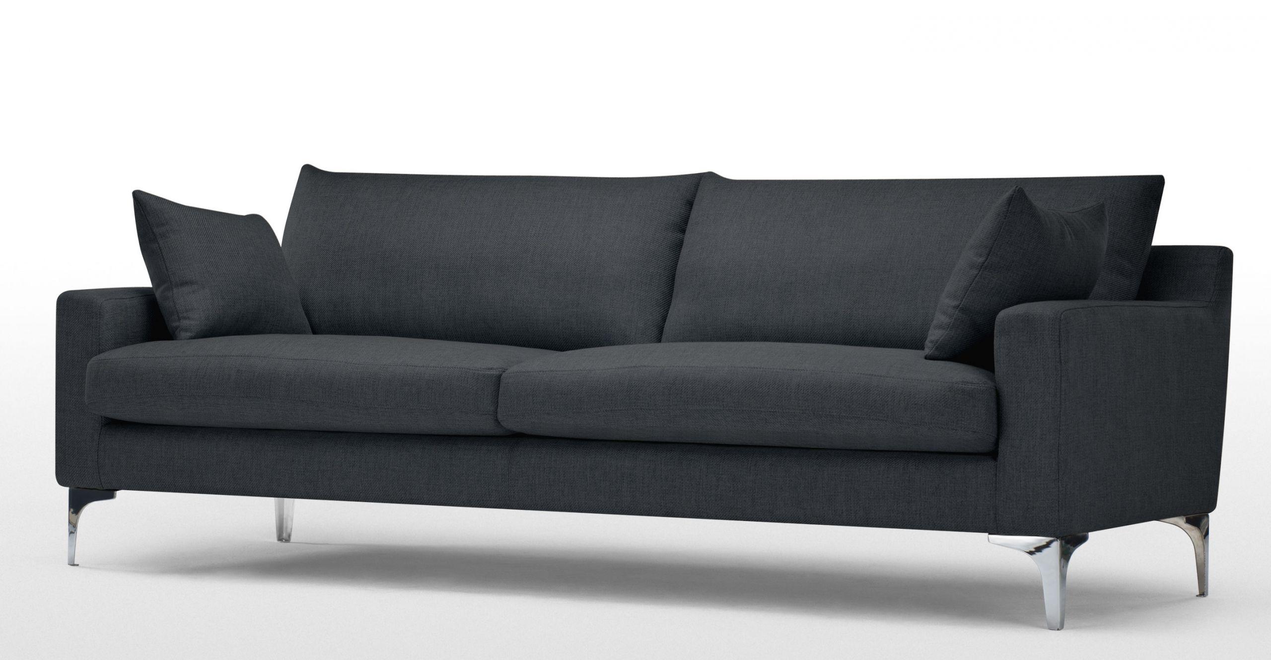 Mendini un canapé 3 places gris anthracite