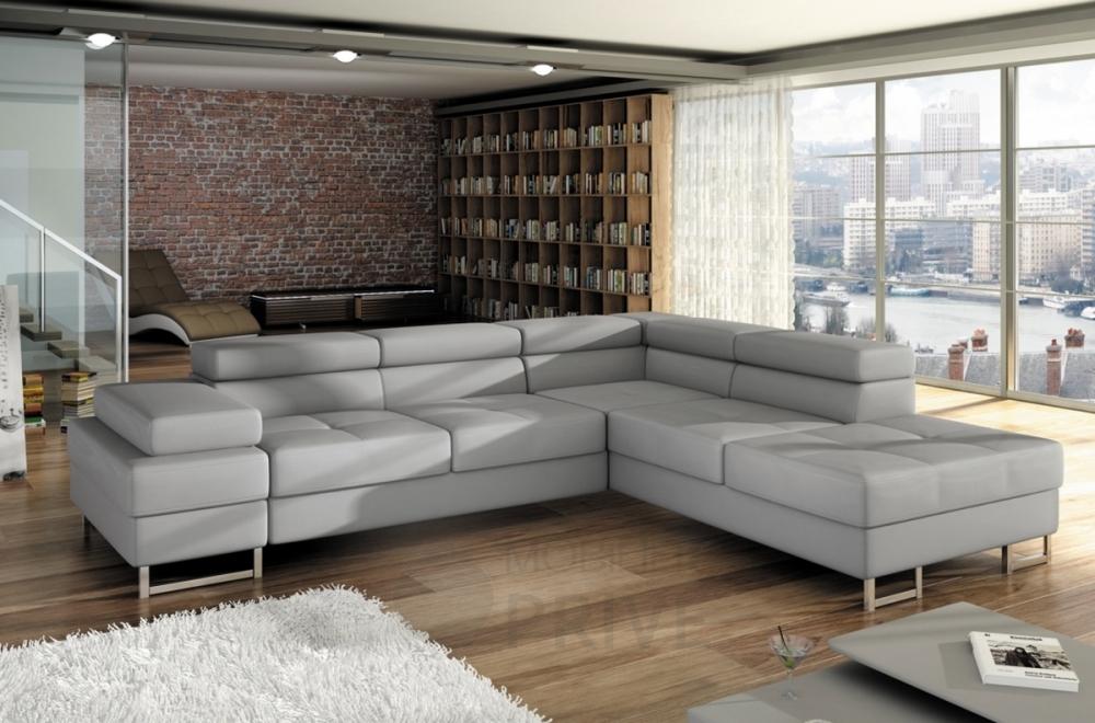 Canapé d angle convertible turin en simili cuir de qualité