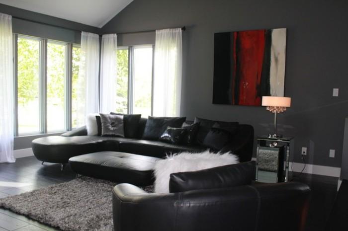 Le salon gris et noir ment le décorer Archzine