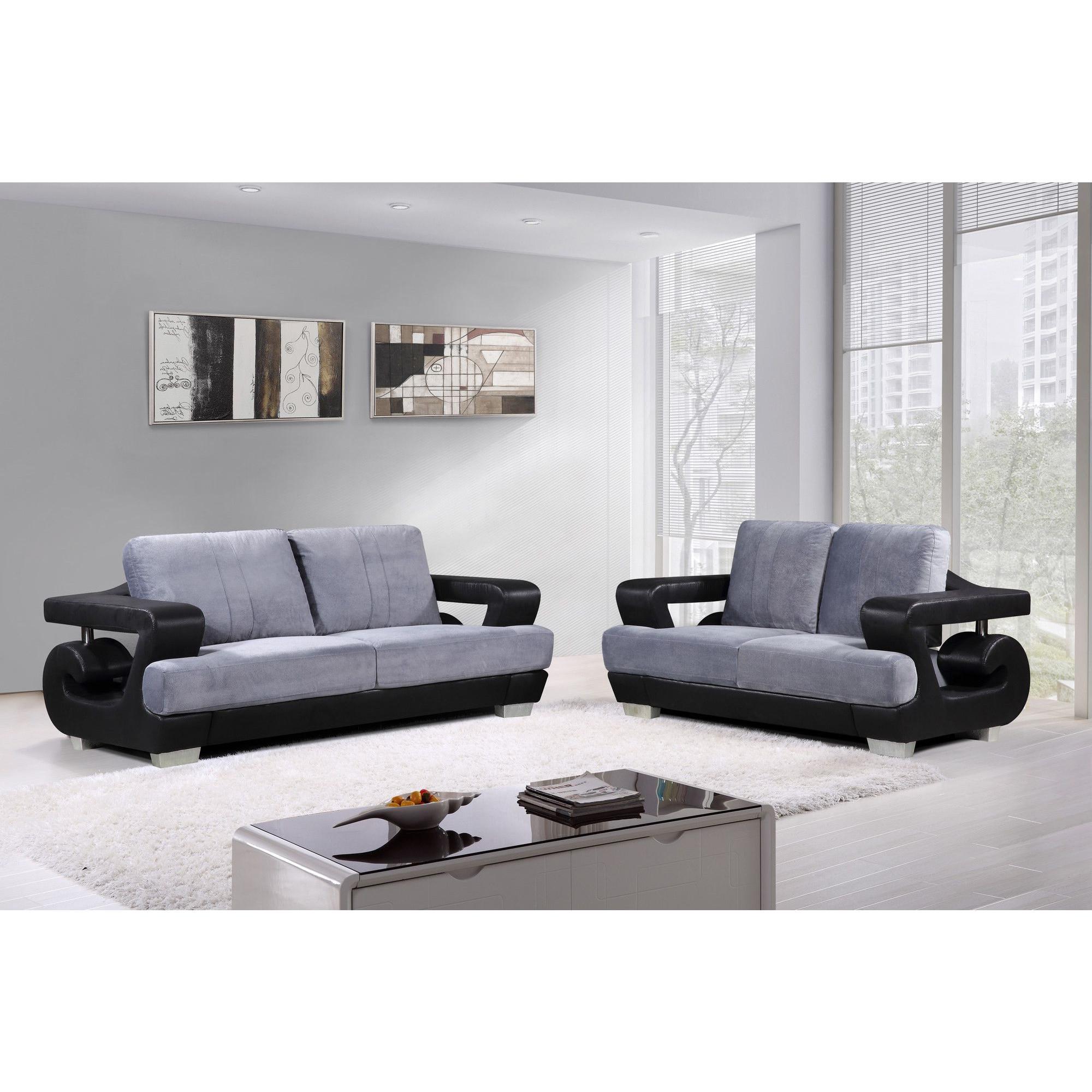 Salon – fauteuil gris et noir forium