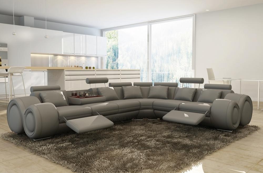 Canapé angle en cuir vachette blanc casanoti