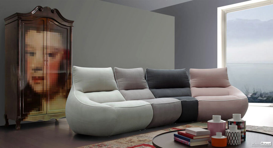 Canapé modulaire Haut de gamme Design