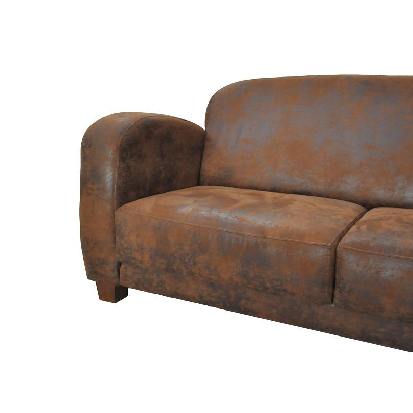 Canapé Club JAZZ 3 places imitation cuir vieilli Le
