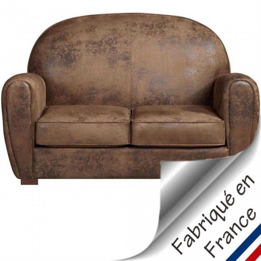 Canapé Convertible Imitation Cuir Vieilli Canapé Lit Style