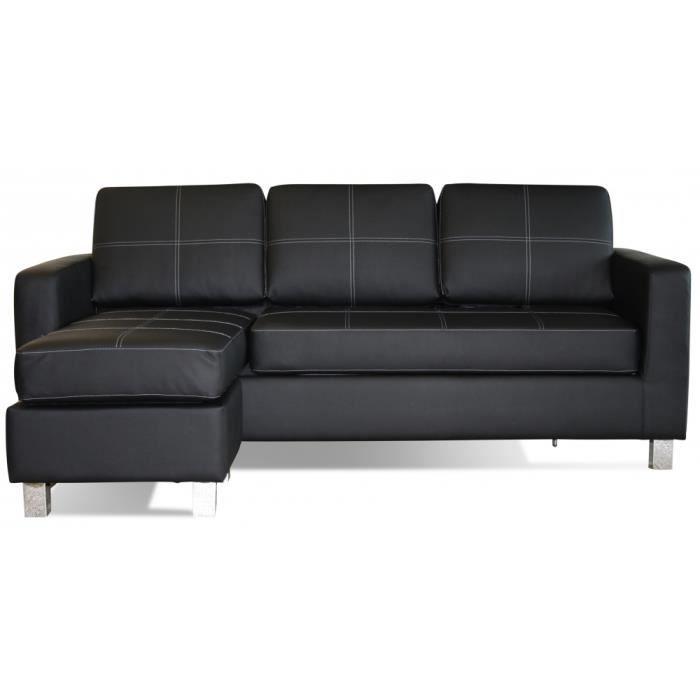 Canapé d angle Synthétique imitation cuir angle réversible