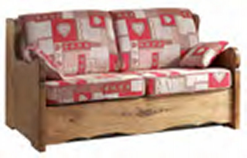 "Canapé lit express en tissu déhoussable ""Alaska"""