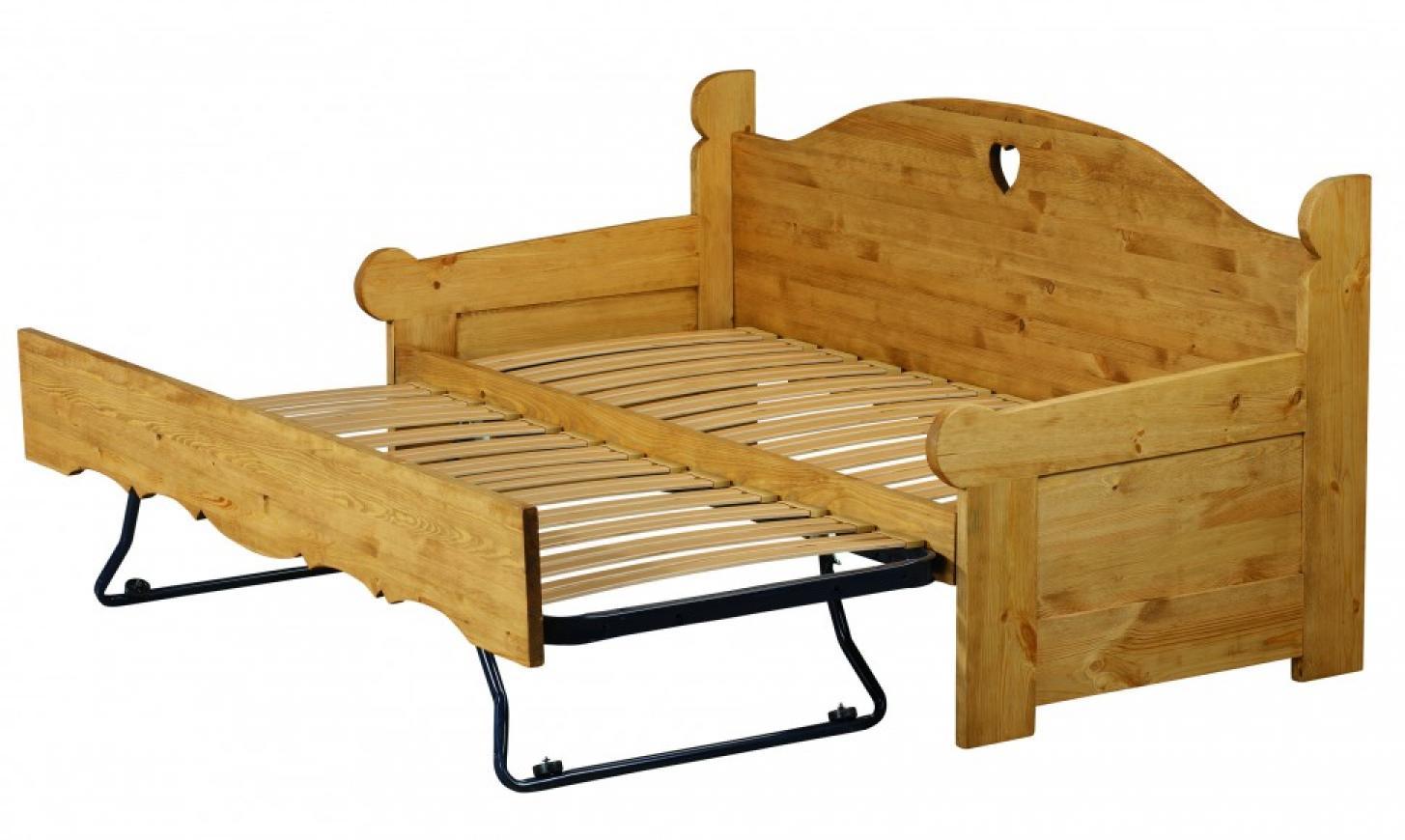 s canapé lit gigogne bois