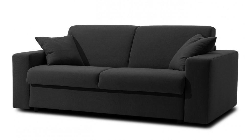 Canap lit noir canap lit 2 places en tissu couchage 120 Canape lit convertible pas cher