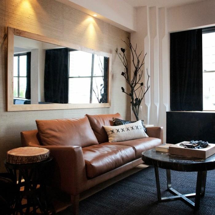 canapé cuir marron 15 – Idées de Décoration intérieure