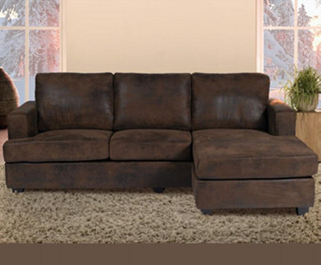 Canape cuir marron vieilli