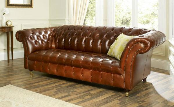 Le canapé cuir vintage le chic et le fabuleux confort