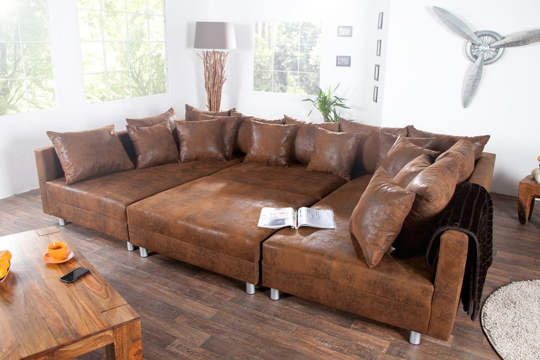 s canapé d angle cuir marron vintage