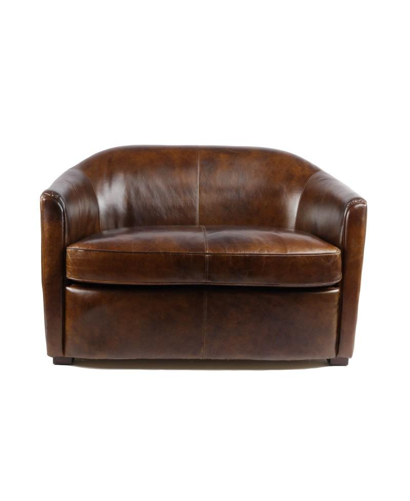 Windsor un canapé club cuir marron vintage