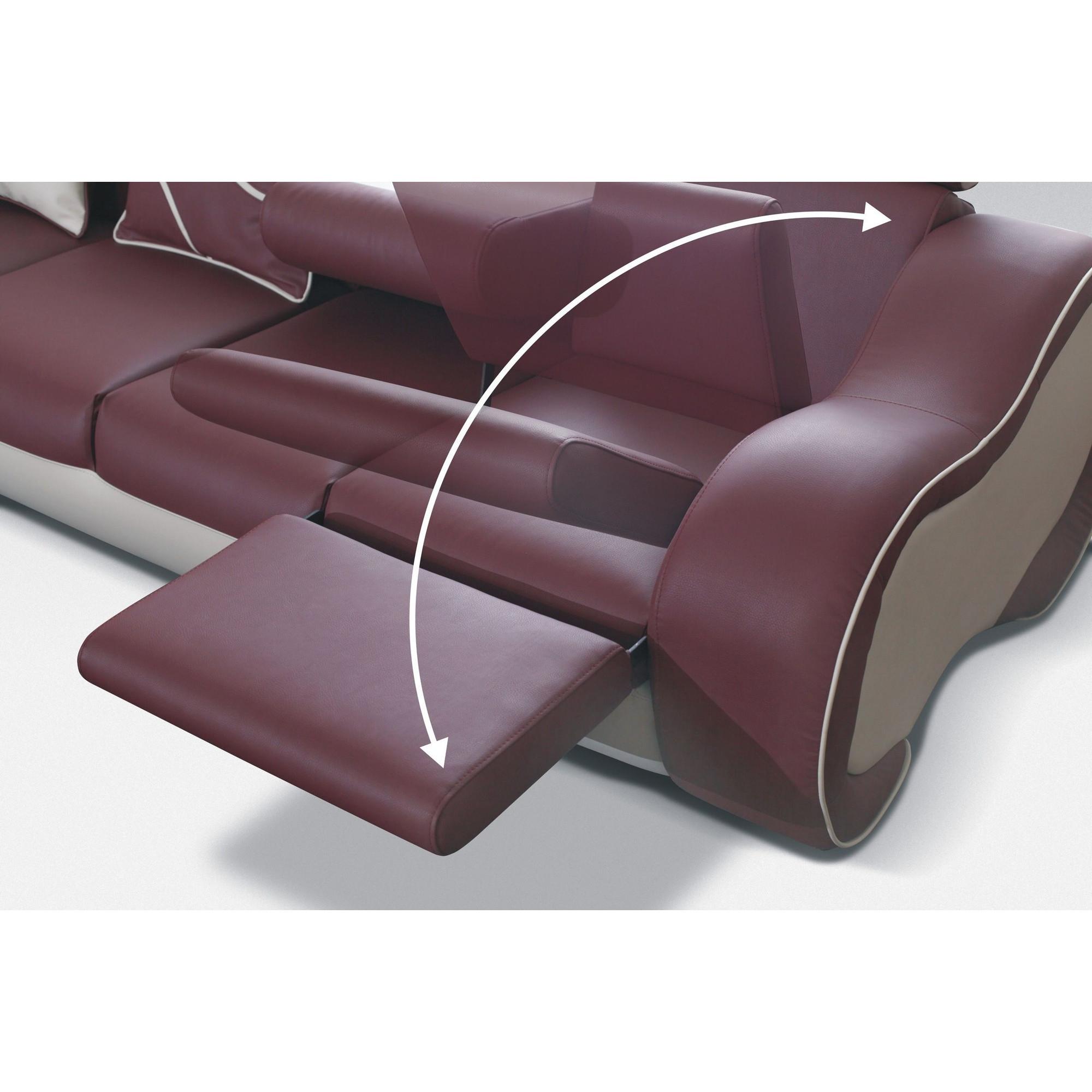Canapé Meridienne Cuir Canapé D Angle Droit Design 5 Places Avec Petite