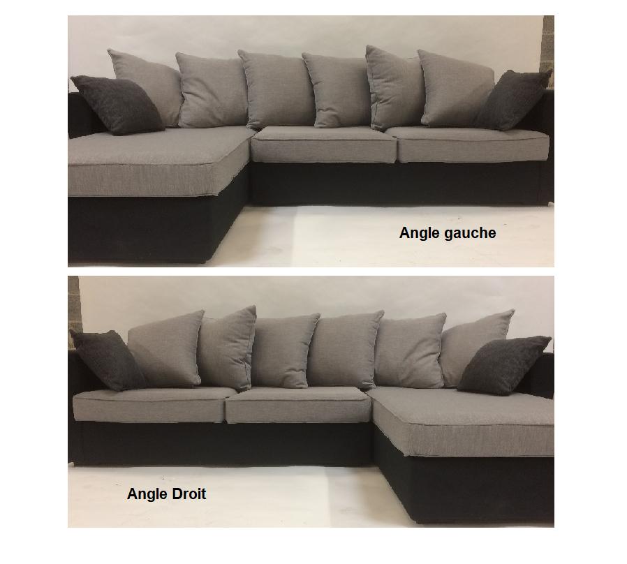 Canapé d angle tissu NEW YORK fixe Home Spirit
