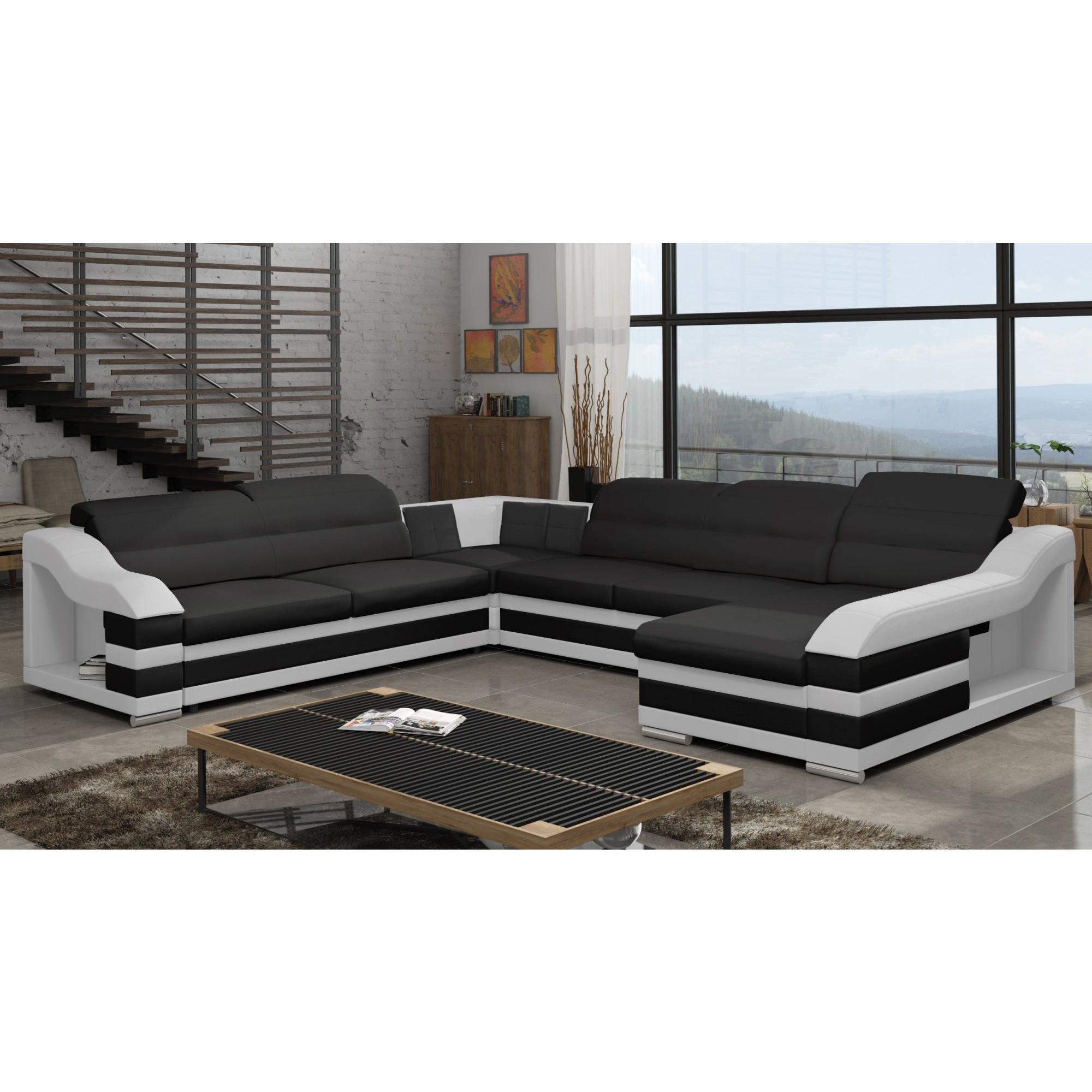 Canapé d angle panoramique convertible design avec