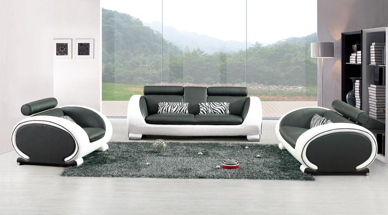 Canape design blanc et noir