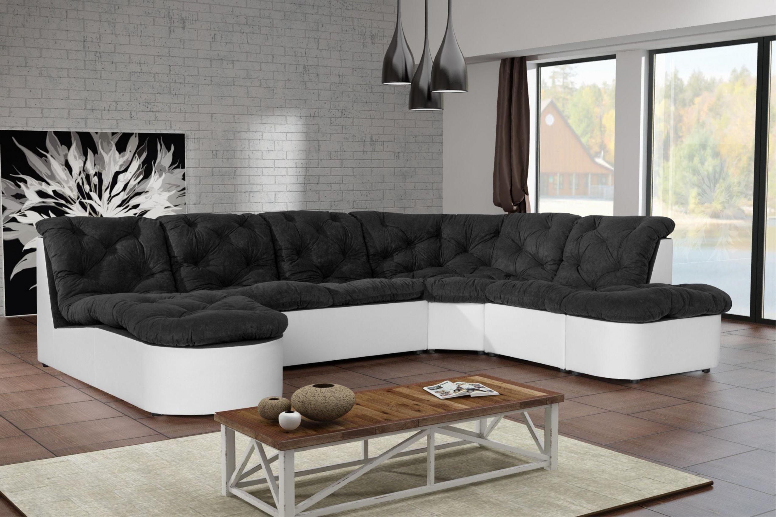 s canapé noir et blanc cdiscount