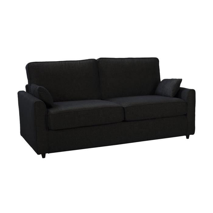 Canapé convertible confort plume avec tissu traité non feu
