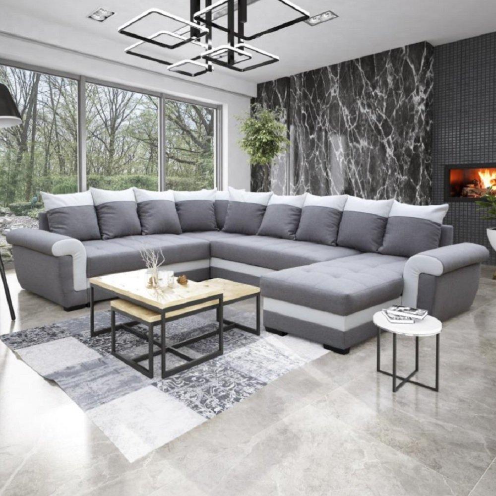 Bobochic Luna Panoramique Convertible canapé panoramique gris canapés d angle gigognes canapés et