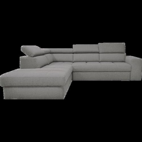 Canapé d angle gauche panoramique convertible en tissu