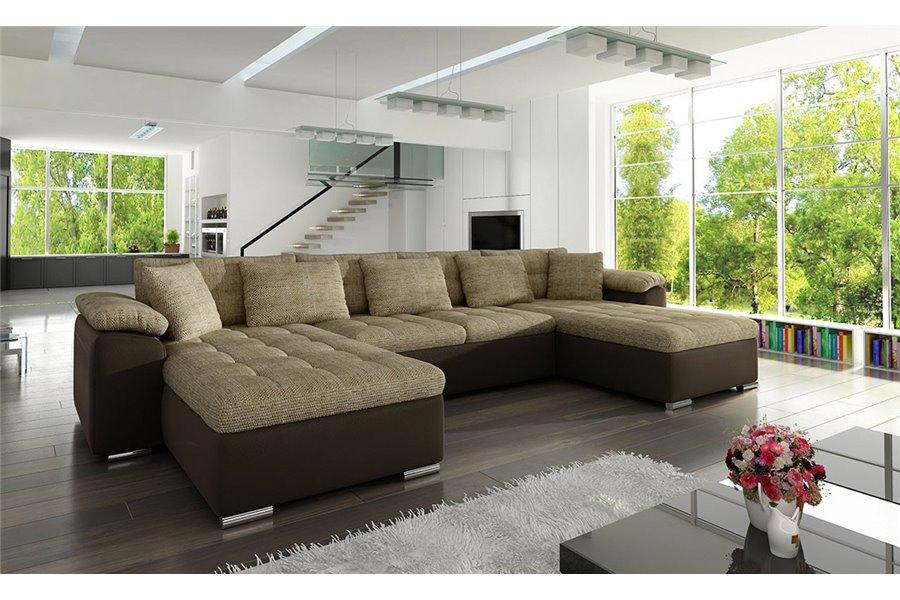Canapé panoramique convertible PU tissu CLEA chloe design