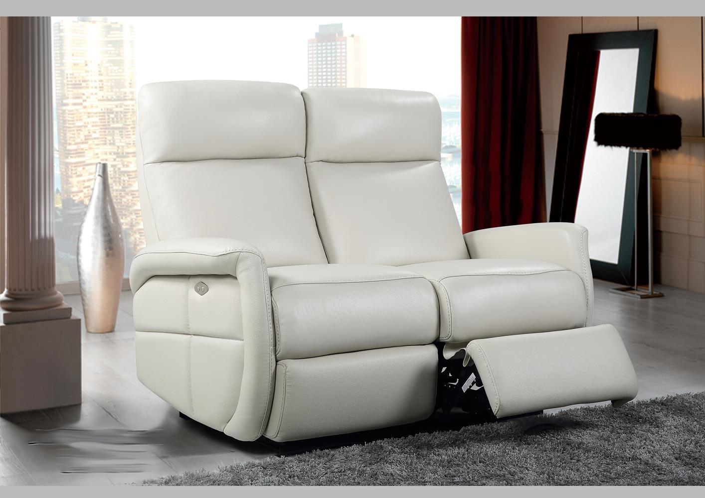 Acheter votre canapé 2 places en cuir taupe avec relax