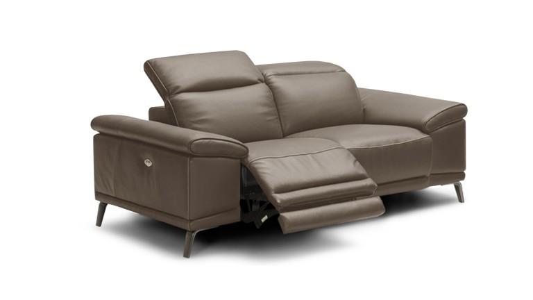 Canapé cuir 2 places Juktan fonction relax lectrique