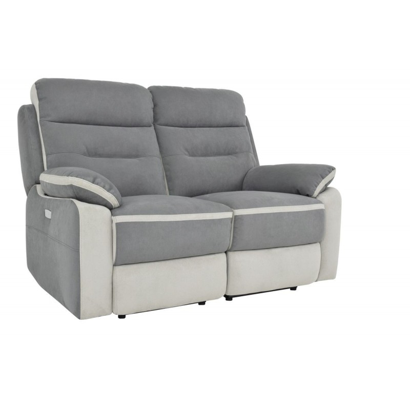 Canapé relax 2 places gris anthracite NEVADA BELHOME