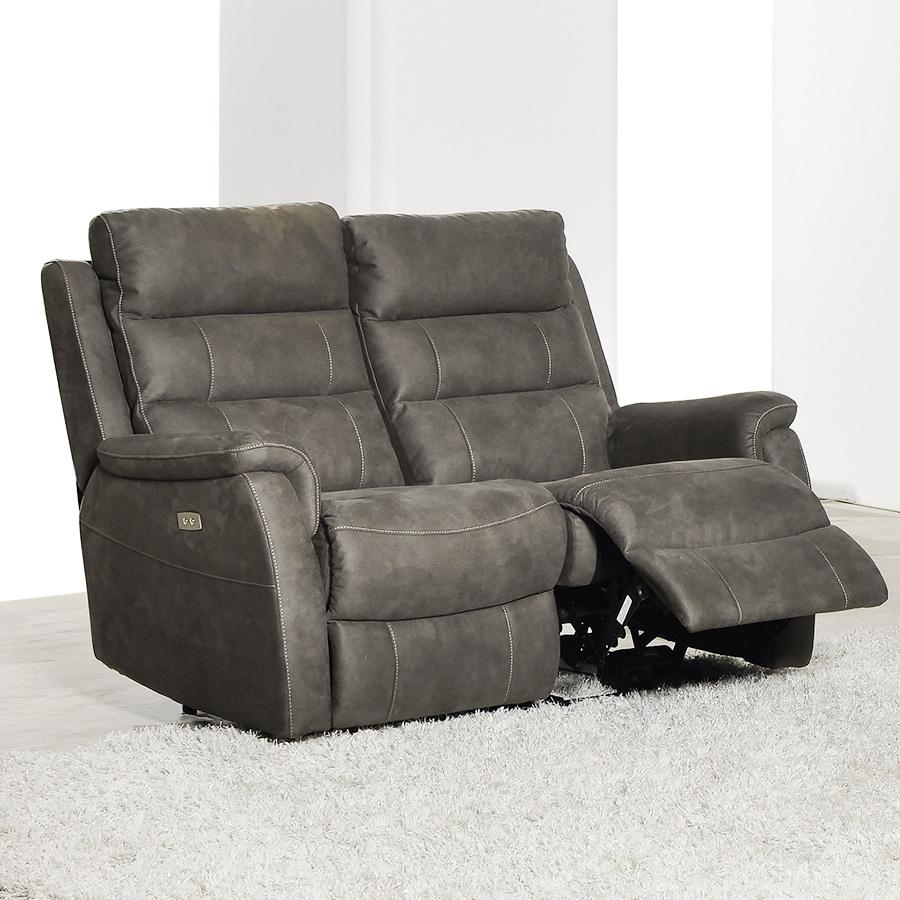 Canapé relax électrique 2 places en tissu SOFAMOBILI