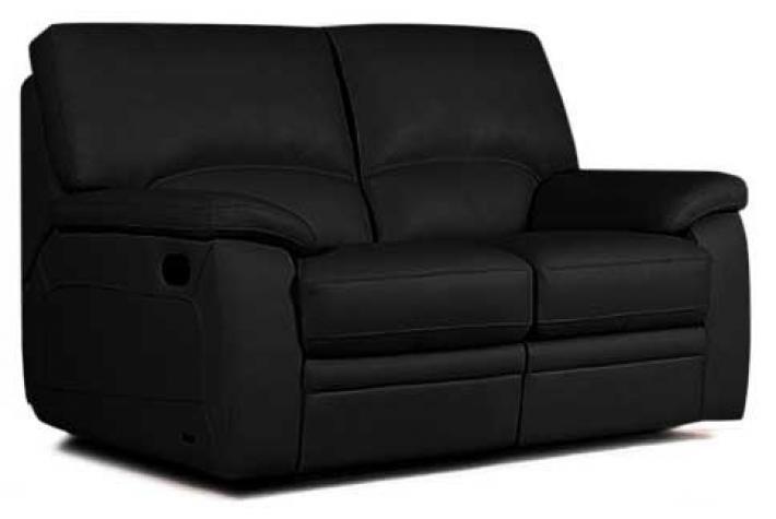 Canapé relaxation 2 places en cuir FOSTER design pas cher