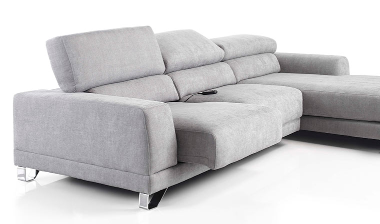 Canapé d angle classique en tissu Relax électrique