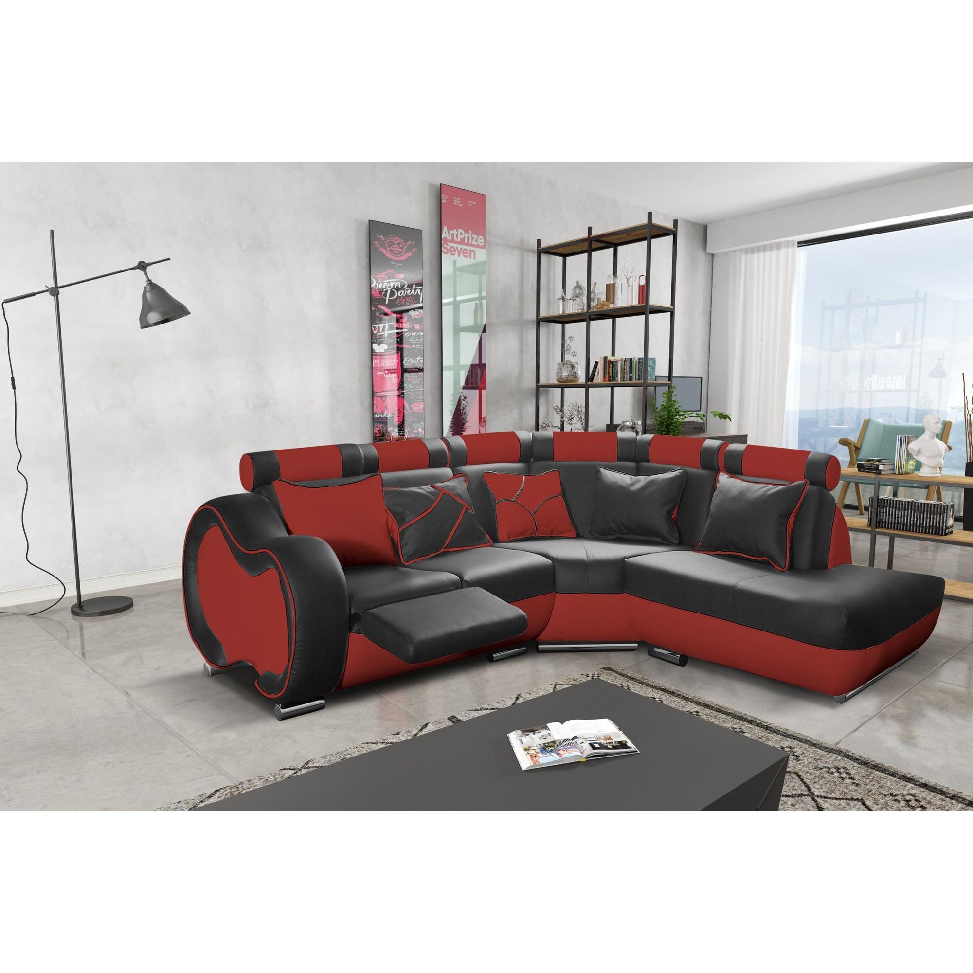 Canapé d angle droit design 4 places avec petite