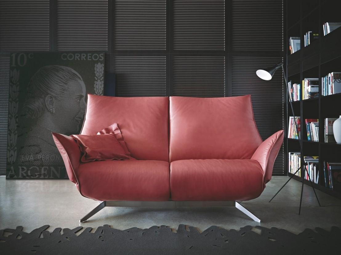 Canapé design relax éléctrique pact cuir ou tissu 2