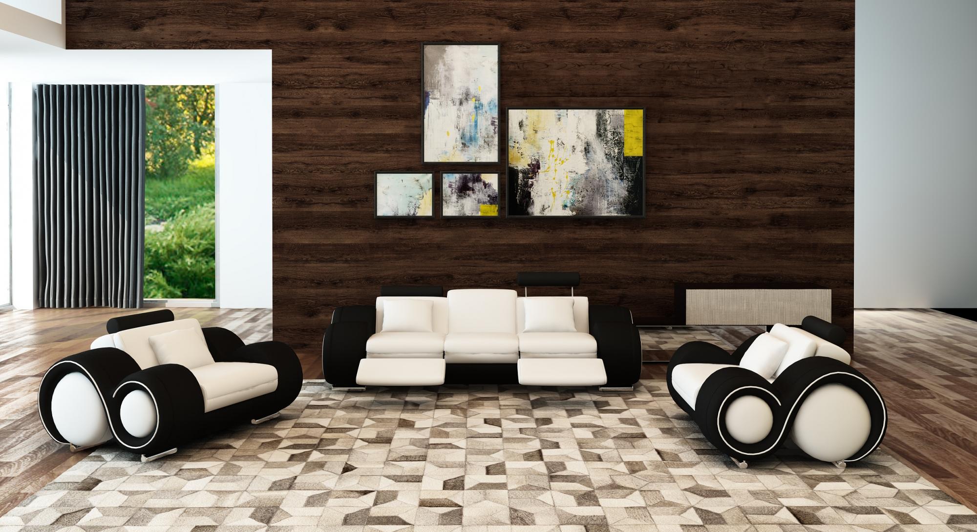 DECO IN PARIS Ensemble canape relax design 3 2 1 places