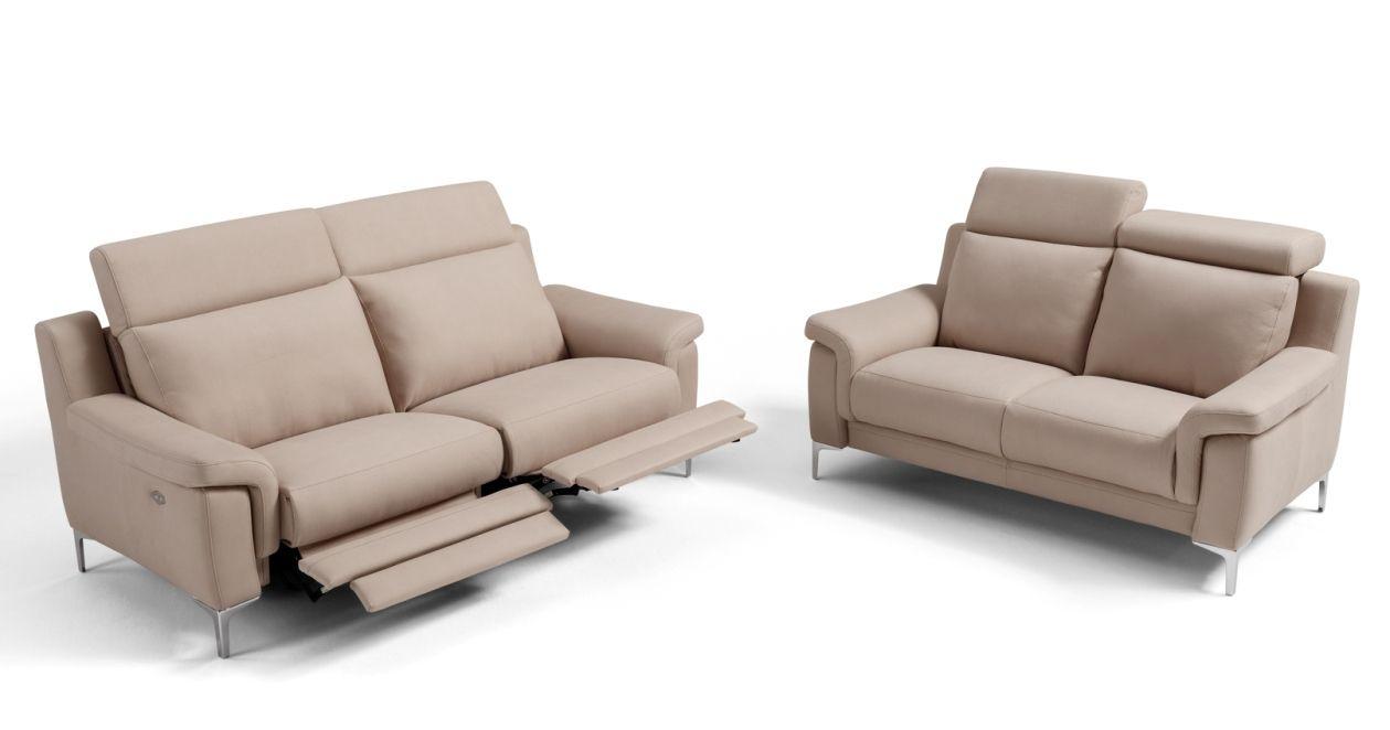 ALVAR Micronabuck canapé relaxation électrique tissu