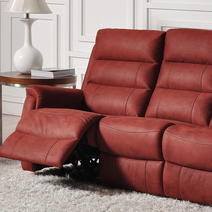 Canapé rouge 3 places relax électrique