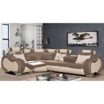 Canapé Relax Marron Canapé D Angle Droit Design 5 Places Avec Relax Manuel En
