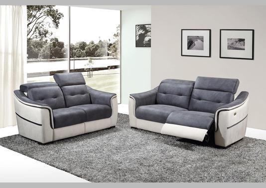 Acheter votre canapé 2 places pvc et microfibre fixe ou
