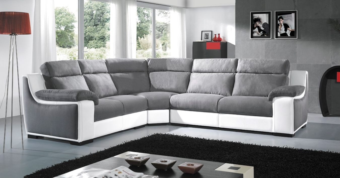 Canapé d angle 2places relax STAR Cuir ou Microfibre