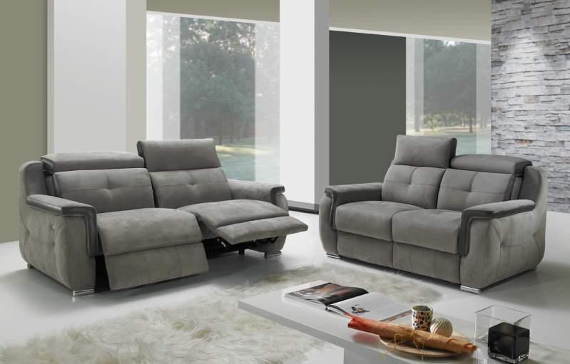 Canapé relax électrique en microfibre modèle Verona