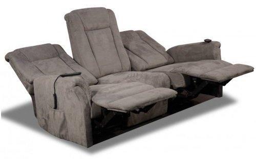 Celeste canapé 3 places relax électrique microfibre gris