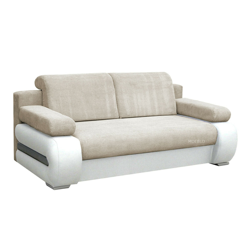 Canape Relax Moderne Canapé Convertible 2 Places Lit Relax Moderne York Beige