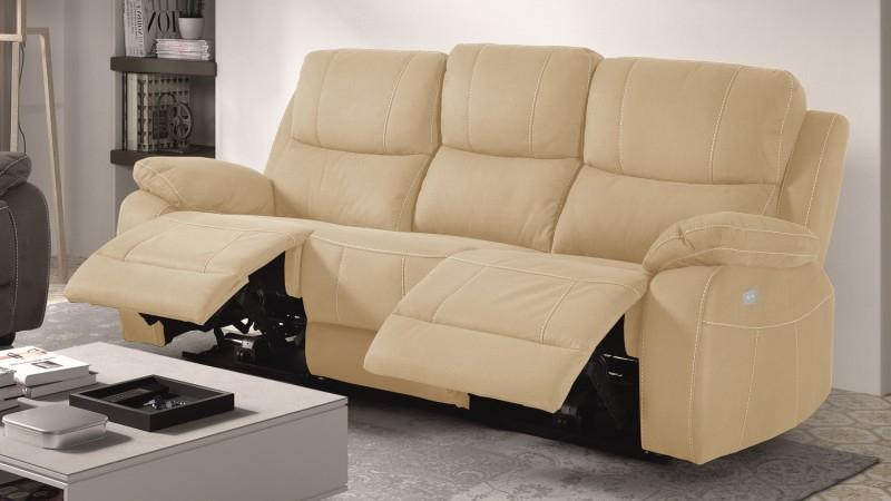 Canapé de relaxation 3 places moderne en tissu Russell
