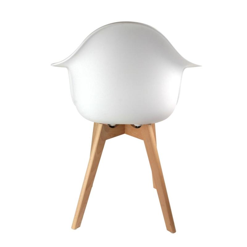 Fauteuil scandinave Blanc AC Deco
