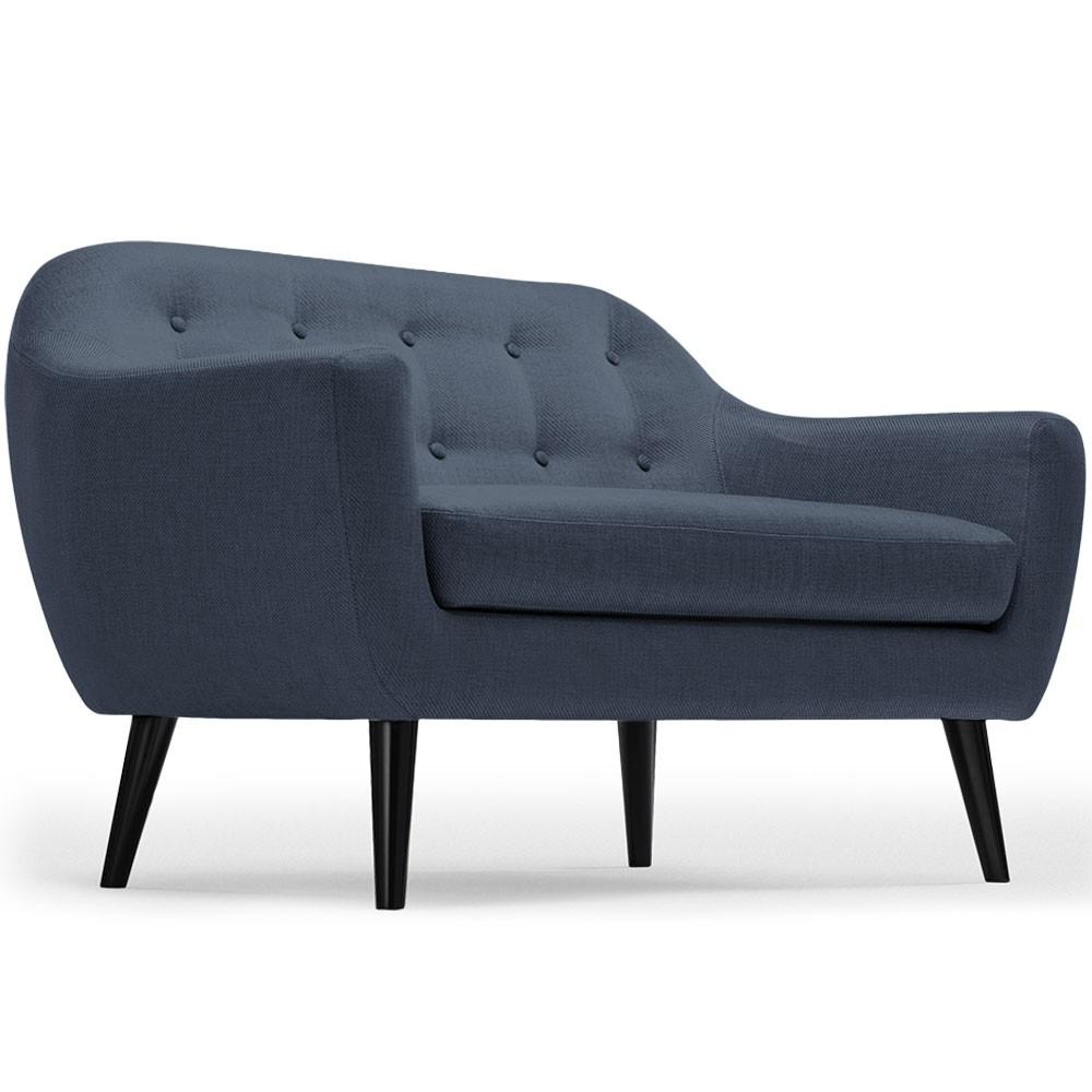 Canapé style scandinave 2 places Dita Tissu Bleu