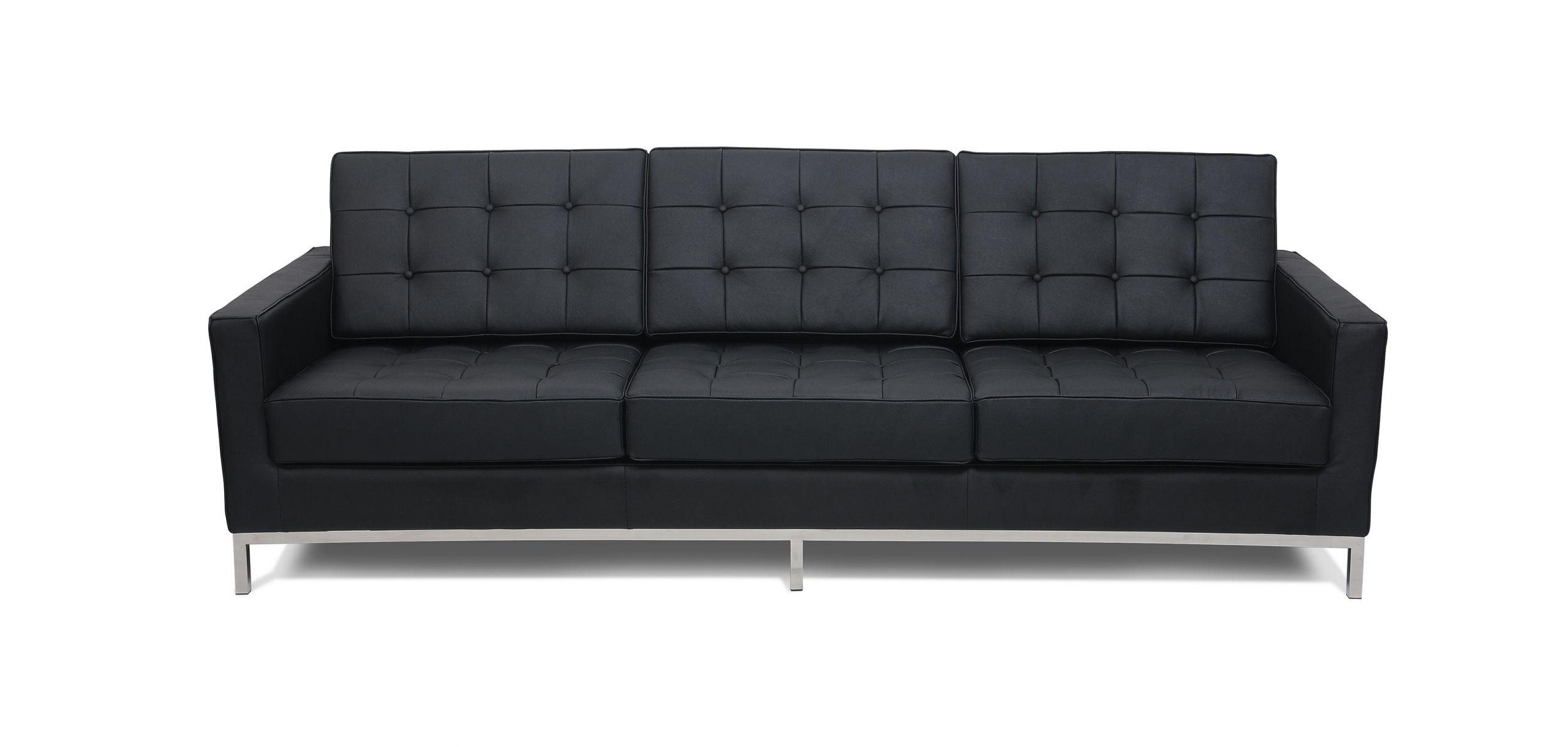 Canapé 3 places Style Florence Knoll Simili Cuir pas