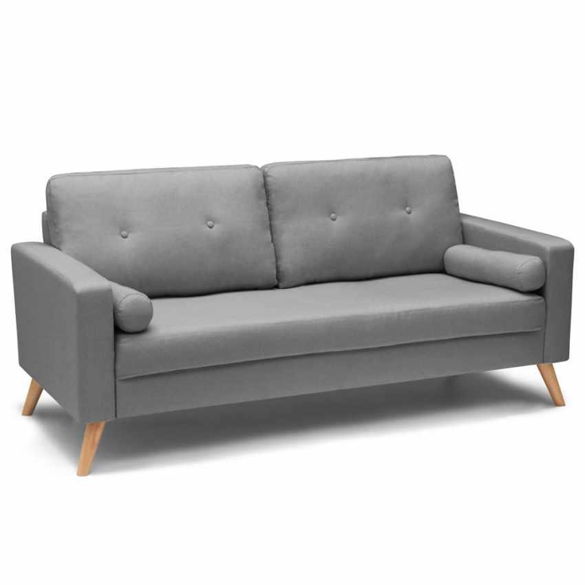Canapé Design Moderne Style Scandinave en Tissu 3 Places